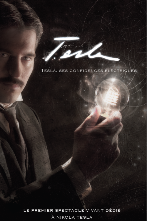 Latest design on our poster for the Tesla show by Mila Gajin